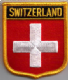Switzerland Embroidered Flag Patch, style 07.